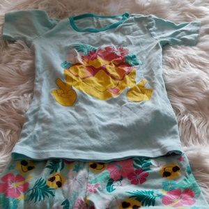 used CHILDREN'S place 2pc girls pajamas